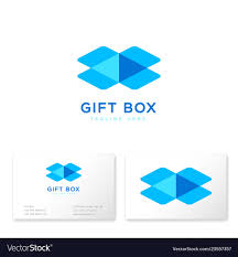 Buisness Card Online Gift Box Logo Online Shop Business Card