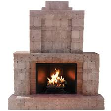 pavestone rumblestone 84 in x 38 5 in x 94 5 in outdoor stone fireplace in greystone 53334 the home depot