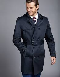 men s navy double ted rain mac 1913 collection