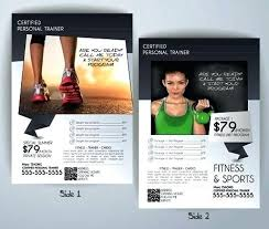 Training Flyer Templates Free Fitness Class Flyer Template Digital Printing Fitness Class