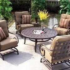 darlee malibu 5 piece cast aluminum patio conversation seating set
