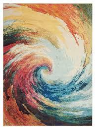 nourison celestial ces07 wave area rug
