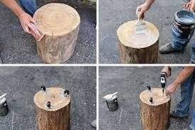 pin on logs sitting area
