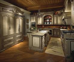 tuscan style lighting. Antique Wooden Kitchen Cabinet Come With Granite Countertops And Classic Decor Concept Tuscan Style Lighting