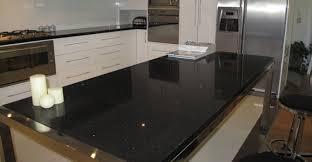 black engineered quartz countertop