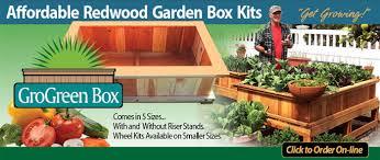 box garden. Affordable-redwood-garden-box-kits Box Garden