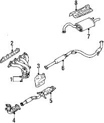 parts com® mitsubishi galant exhaust components oem parts diagrams 2003 mitsubishi galant es l4 2 4 liter gas exhaust components