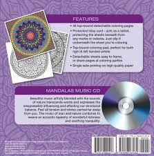 Mandalas Adult Coloring Book With Relaxation Cd Color With Music