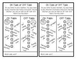 Off Task Behavior Chart Behavior Charts On Task Appropriate Talking Behaviour