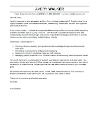 Assistant Cover Letter Administrative Assistant Cover Letter