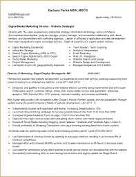 Digital Strategist Resume Resume Social Media Marketer Resume