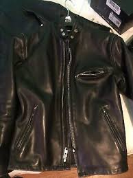 schott nyc usa 641 steer hide cafe racer size 38 heavy duty biker jacket black