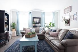 navy blue themed living room. pink, navy blue, and jade family room decor reveal: jo\u0027s house | all things thrifty blue themed living e