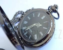 mens pocket watch gunmetal finished gifts for men groomsmen gifts best man personalized pocket watch