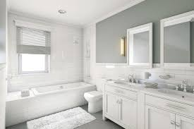 a clean white bathroom