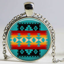 whole gl dome necklace native american jewelry southwestern necklace gl tile