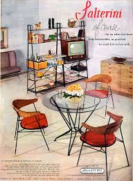funky furniture and stuff. salterini metal furniture tempestini of florence room divider tv chairs 1953 ad funky and stuff r