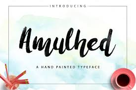 free hand painted font