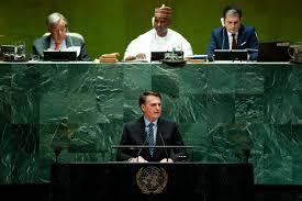 Resultado de imagem para Bolsonaro na ONU