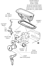 Door handle assembly diagram view chicago corvette supply