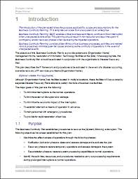 Courier Business Plan Template Business Continuity Plan Download 48
