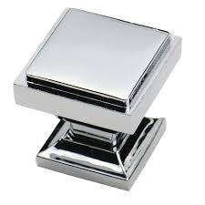 southern hills polished chrome square cabinet knobs  pack of