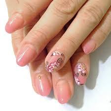 春ネイル桜色 伊丹 ネイル フットケアサロン マイディア