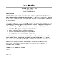 Best Legal Assistant Cover Letter Examples Livecareer Executive X