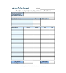 Budget Samples Household Home Budget Sheet Pdf Simple Household Template Printable The Best