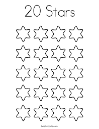 Small Picture Star Counting Coloring Page Twisty Noodle