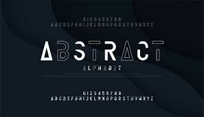 Abstract Thin Line Font And Numbers Minimal Alphabet Vector