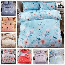 2019 flower pattern classical quilt duvet 3 bedding set kids child soft bed linen single twin full queen king size 180x220 duvet cover from anzhuhua