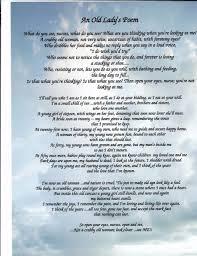 Print Name Old Ladys Poem Nursing Home Nurses Response Nurse Aid Print Name