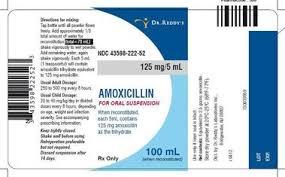 Entyce Dosing Chart Amoxicillin Oral Suspension 125mg 5ml 100 Ml Manufacture May Vary