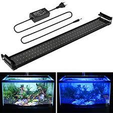 MAINLICHT Aquarium LED Beleuchtung, Aquariumbeleuchtung Lampe Weiß Blau  Licht 18W Mit Verstellbarer Halterung Für 70cm