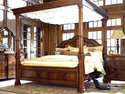 Black Canopy Bed Frame Thin Black Metal Frame Lets The Bed Match Any ...