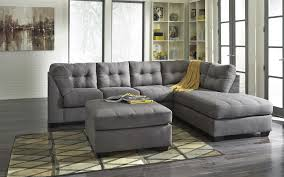 Living Room Furniture Sectionals Benchcraft Maier Charcoal 2 Piece Sectional With Left Chaise