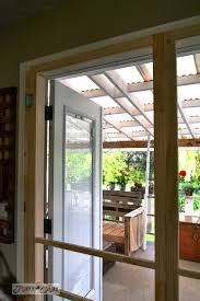 installing screen doors on french doors easy and cheap funky