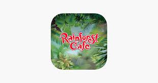 rainforest cafe on the app