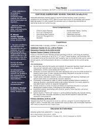 Classy Resume Of Nursery School Teacher With Sample Resume For