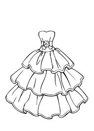 Small Picture Wedding Dresses Color Pages Easy wedding dress coloring pages