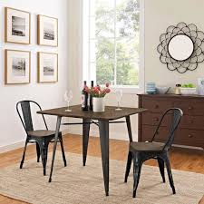 modway furniture alacrity 36 inch square wood dining table in brown