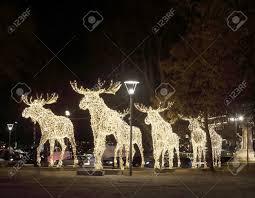 Moose Christmas Lights Herd Of Christmas Moose Made Of Led Light Nybrokajen Stockholm