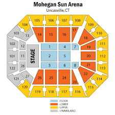 Bright Mohegan Sun Concert Seating Mohegan Sun Arena Seating