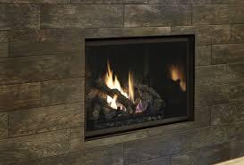 fireplace xtrordinair 864 clean face gas fireplace with adjule tile trim kit and black enamel fireback