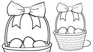 Large Easter Basket Coloring Pages Printable Images Of Egg Sheets