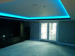 Led Lights For Theater Room Color Changing Led Rope Light In Soffit Of Home Theater