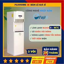 Cây nước nóng lạnh block 3 vòi bình âm cao cấp Fujie WD6500C, bình lọc máy  lọc nước nóng lạnh mini công nghệ Nhật Bản