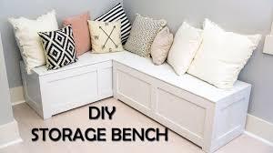 Kitchen Nook Storage Bench Diy Youtube