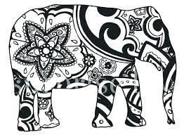 Elephant Mandala Coloring Pages Easy Elephant Mandala Coloring
